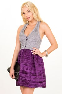 Patrizia Pepe Knitted and Purple Satin Dress / Size: 42 IT - Fit: S